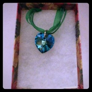 Jewelry - Multicolor Blue Crystal Heart Necklace